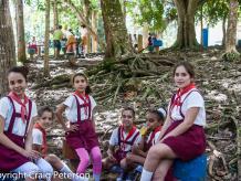 schoolgirls at their break
